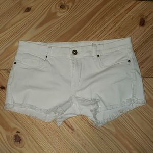 Blank NYC white denim cutoff shorts size 30